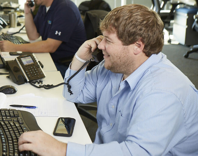 Support desk call